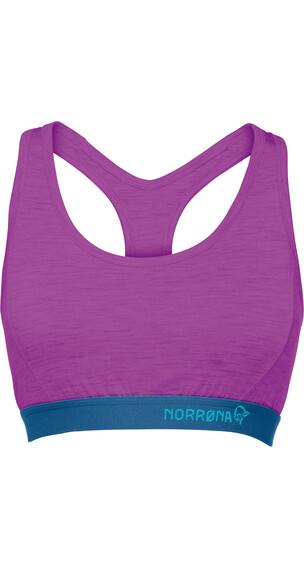 Norrøna Wool - Brassière de sport Femme - violet